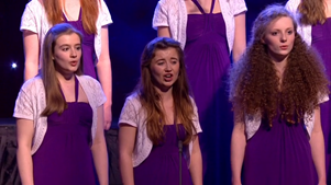 Jess Price sings her solo in I Got a Robe in the Final of School Choir of the Year 2014