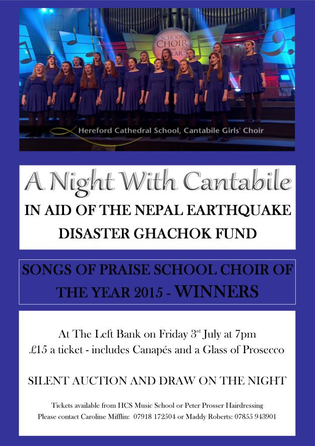 Nepal Concert flyer